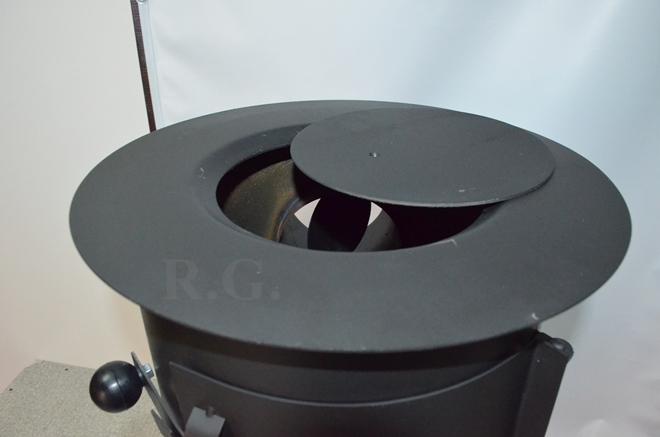 werkstattofen kanonenofen holzofen ofen rund schwarz 75cm. Black Bedroom Furniture Sets. Home Design Ideas