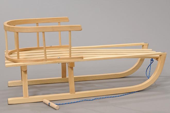 neuheit holzschlitten schlitten holzrodel mit r ckenlehne schneebob ebay. Black Bedroom Furniture Sets. Home Design Ideas