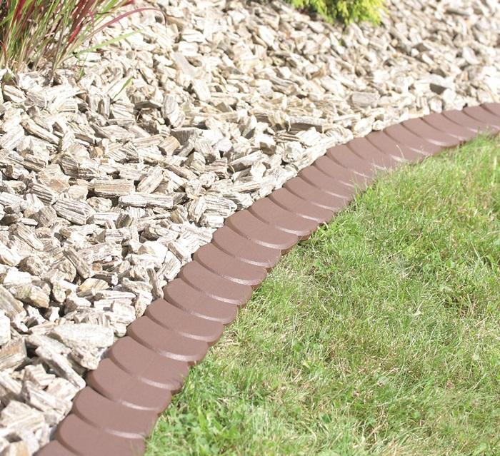 Palisade Rasenkante Garten Beetumrandung Beeteinfassung 3,8m IPAK2 Braun