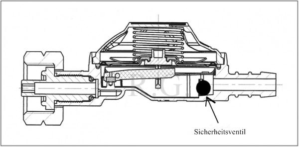 gasregler druckminderer gas druckregler 37 mbar 1 5 kg h versicherungsventil ebay. Black Bedroom Furniture Sets. Home Design Ideas