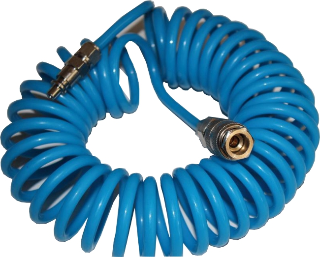 Druckluftpistole Luftpistole Ausblaspistole mit Schlauch Spiral für LKW KFZ SET
